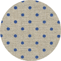 Linen - Belfast Petit Point - 32ct - Raw Natural with Blue Point